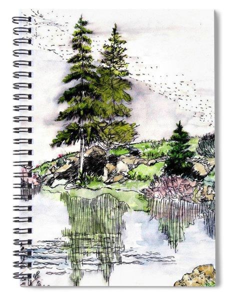 Colorado Lake Reflections Spiral Notebook