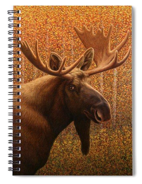 Colorado Moose Spiral Notebook by James W Johnson