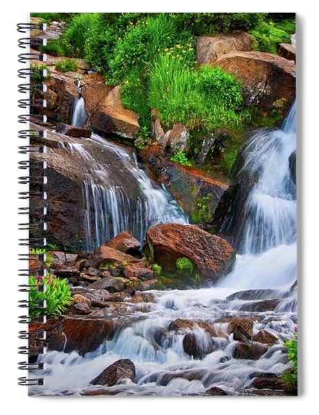 Colorado Mountain Stream, Indian Peaks Wilderness Spiral Notebook