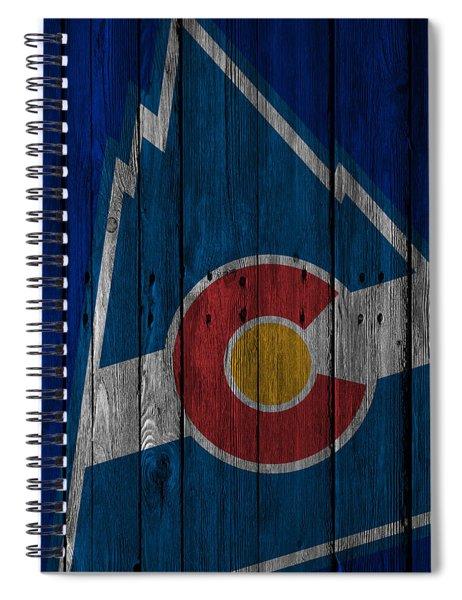 Colorado Rockies Wood Fence Spiral Notebook