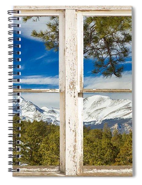 Colorado Rocky Mountain Rustic Window View Spiral Notebook