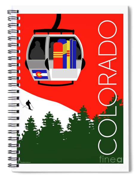 Colorado Ski Country Red Spiral Notebook