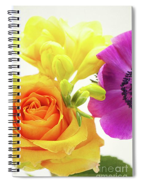 Colored Flowers Spiral Notebook