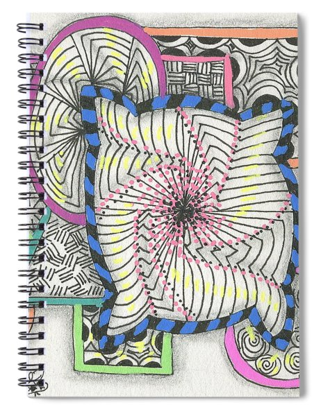 Colored Frames Spiral Notebook