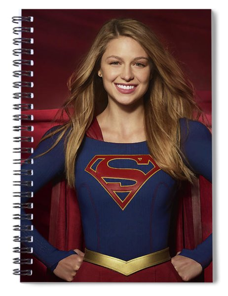 Colored Pencil Study Of Supergirl - Melissa Benoist Spiral Notebook