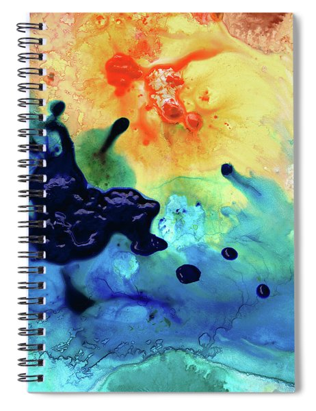 Colorful Abstract Art - Blue Waters - Sharon Cummings Spiral Notebook