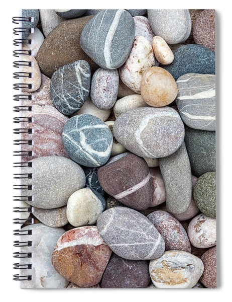Colorful Beach Pebbles Spiral Notebook