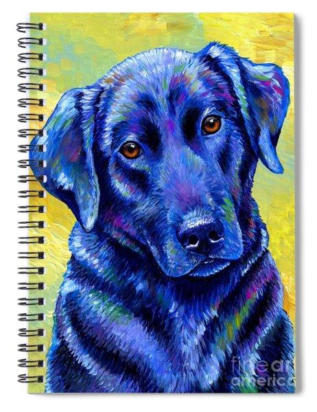 Colorful Black Labrador Retriever Dog Spiral Notebook