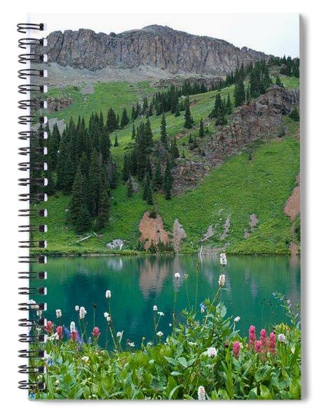Colorful Blue Lakes Landscape Spiral Notebook