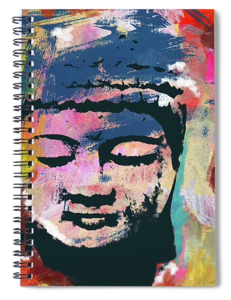 Colorful Buddha 1- Art By Linda Woods Spiral Notebook