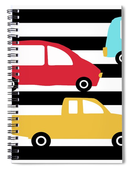 Colorful Cars- Art By Linda Woods Spiral Notebook