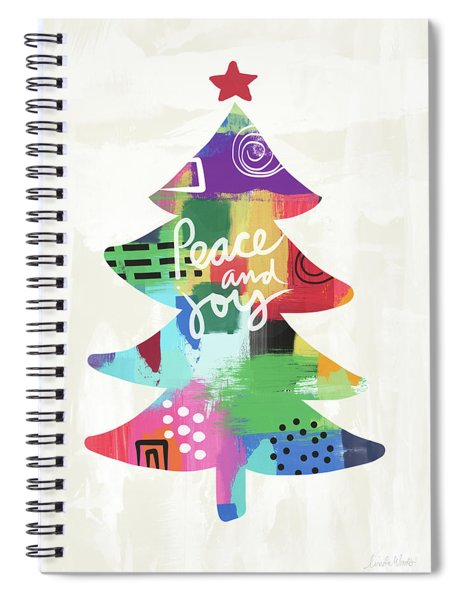 Colorful Christmas Tree- Art By Linda Woods Spiral Notebook