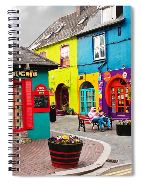 Spiral Notebook featuring the photograph Colorful Corner by Edward Peterson