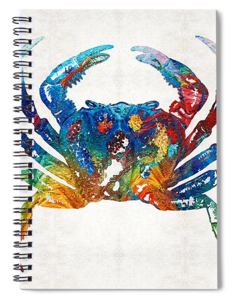 Colorful Crab Art By Sharon Cummings Spiral Notebook