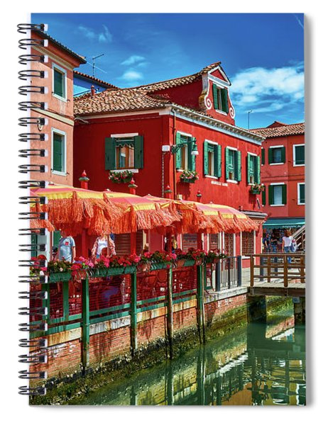 Colorful Day In Burano Spiral Notebook