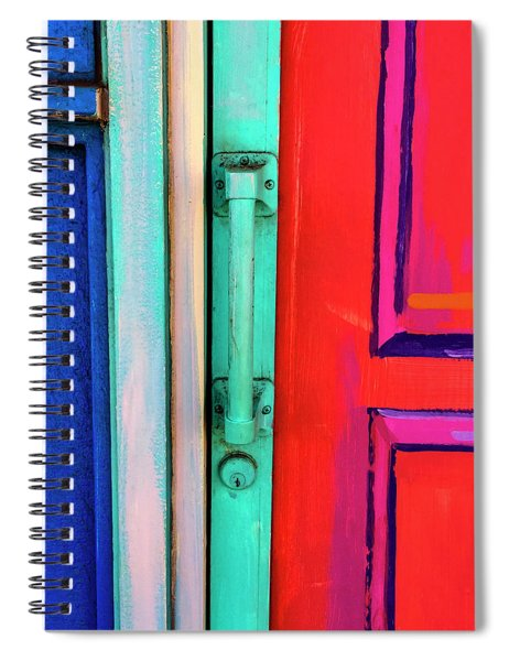 Colorful Doors Real And Otherwise Spiral Notebook