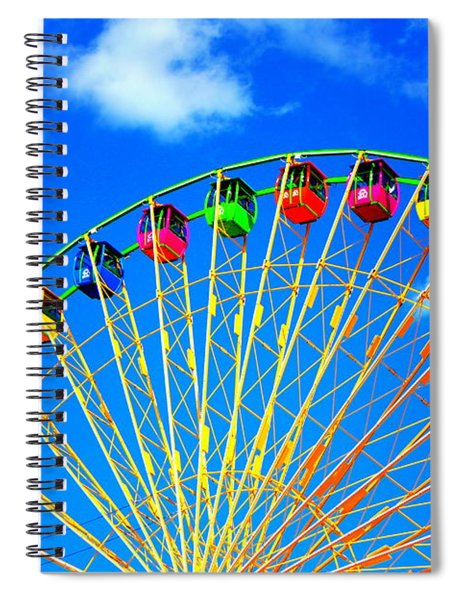 Colorful Ferris Wheel Spiral Notebook