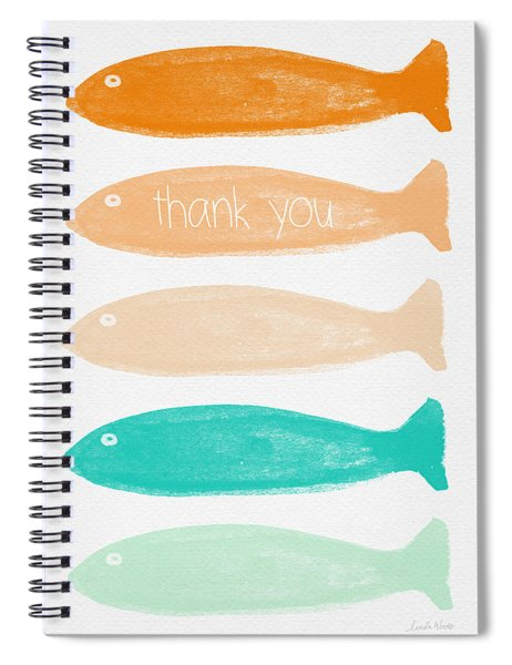 Colorful Fish Thank You Card Spiral Notebook