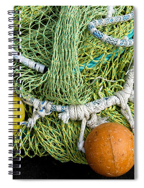 Colorful Fishing Nets And Buoys Spiral Notebook