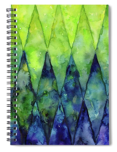 Colorful Geometric Pattern Watercolor  Spiral Notebook