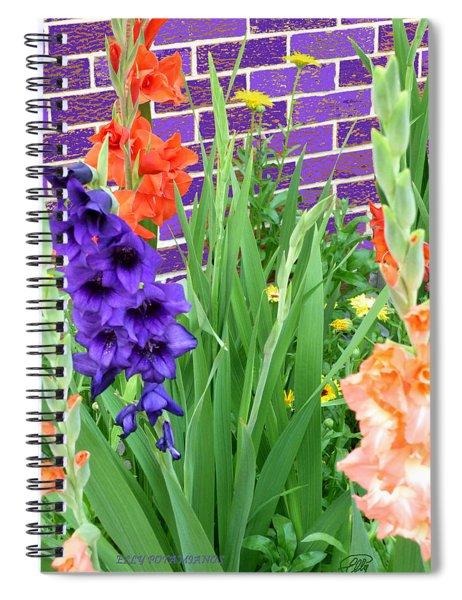 Colorful Gladiolas Spiral Notebook