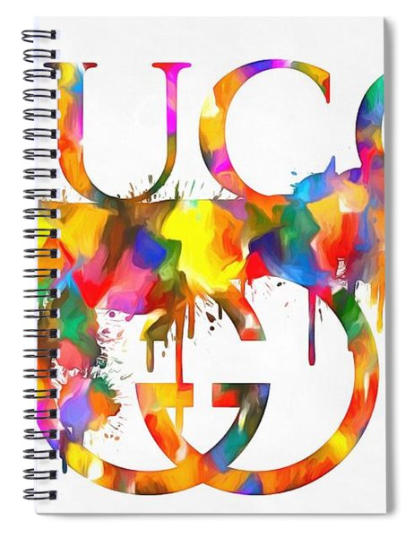 Colorful Gucci Paint Splatter Spiral Notebook