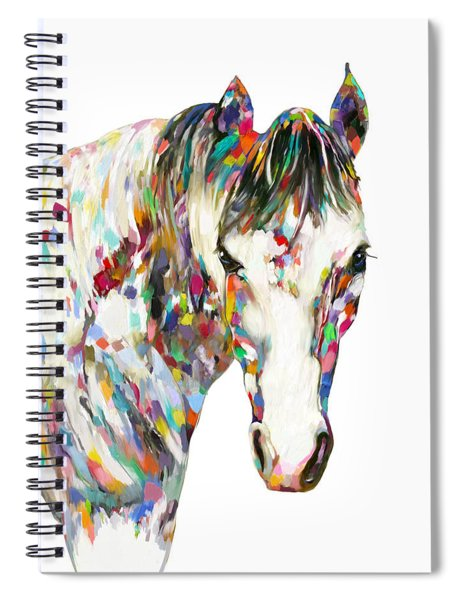 Colorful Horse Spiral Notebook