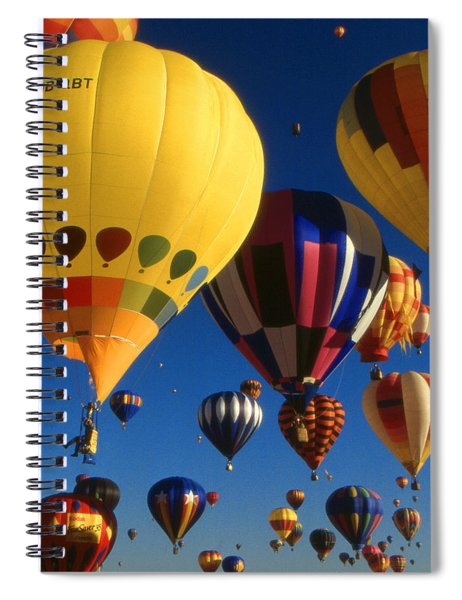 Colorful Hot Air Balloons - Mass Ascension Photo Spiral Notebook