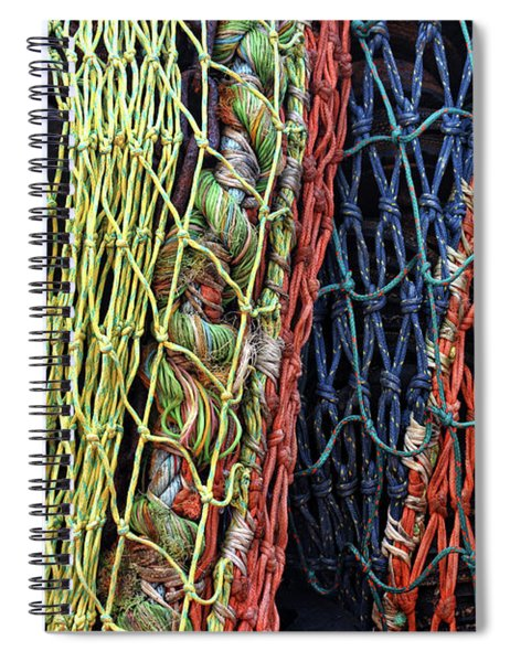 Colorful Layers Of Fishing Nets Spiral Notebook