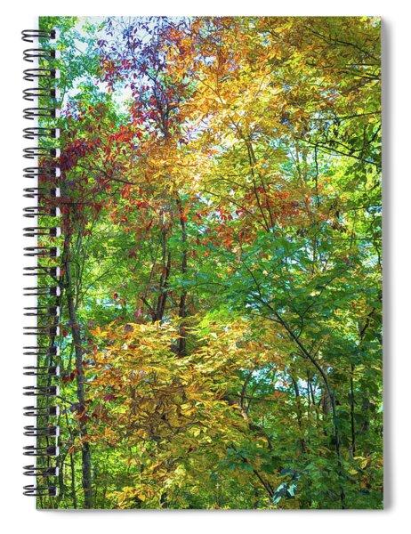 Splashes Of Color Spiral Notebook