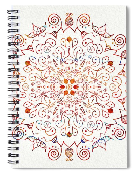 Colorful Mandala On Watercolor Paper Spiral Notebook