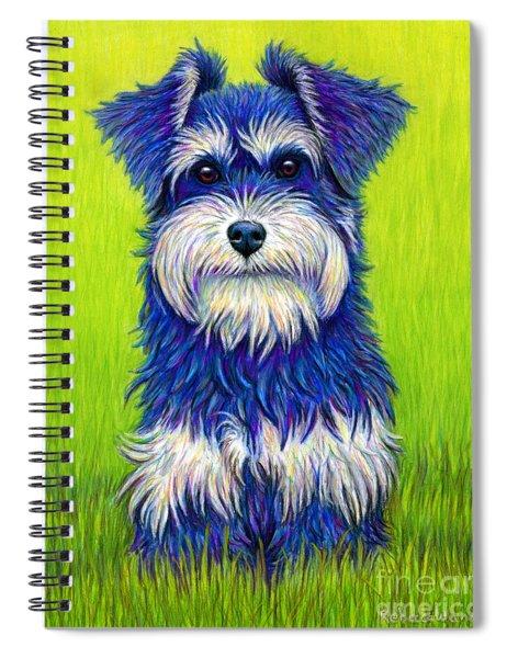 Colorful Miniature Schnauzer Dog Spiral Notebook