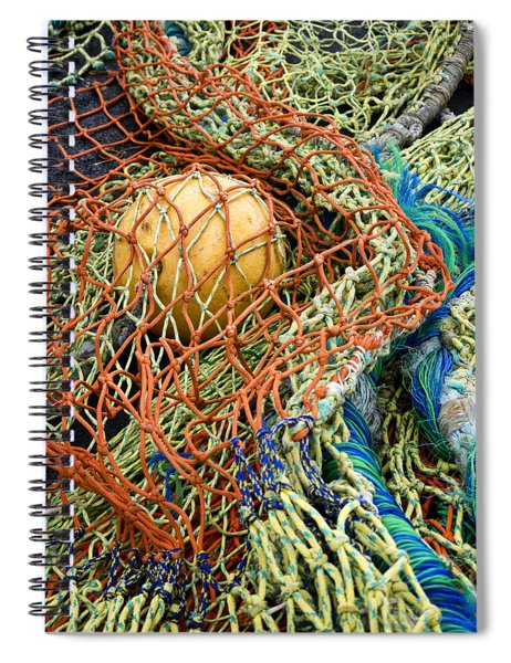 Colorful Nets And Float Spiral Notebook by Carol Leigh
