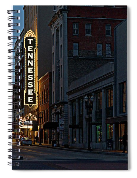 Colorful Night On Gay Street Spiral Notebook