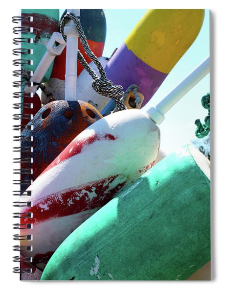 Colorful Old Buoys In Provincetown Cape Cod Spiral Notebook