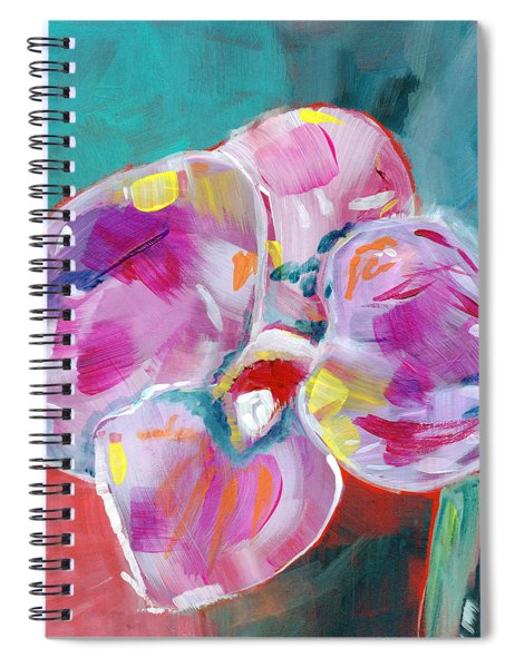 Colorful Orchid- Art By Linda Woods Spiral Notebook