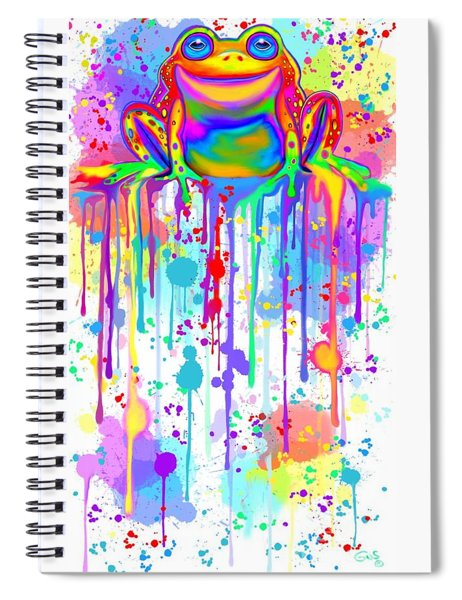 Colorful Painted Frog  Spiral Notebook