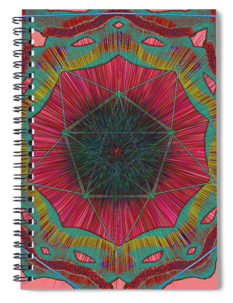 Colorful Pentagonal Abstract Spiral Notebook