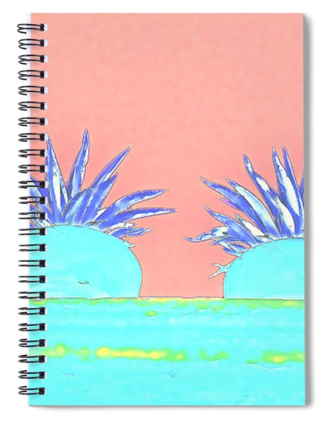 Colorful Potted Plants Mexico Spiral Notebook