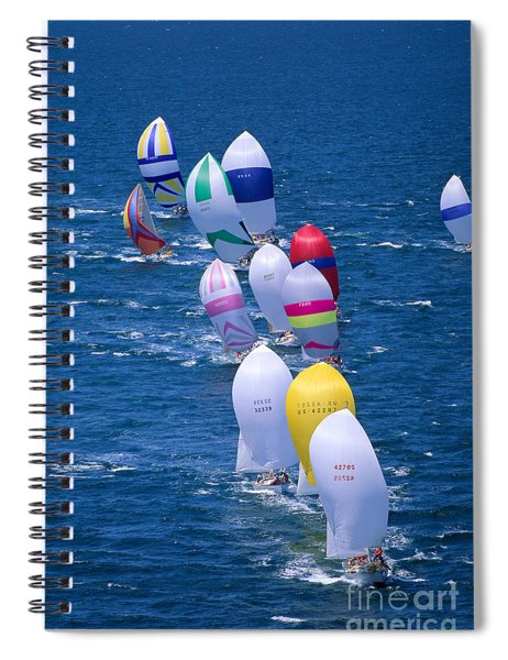 Colorful Sails In Ocean Spiral Notebook