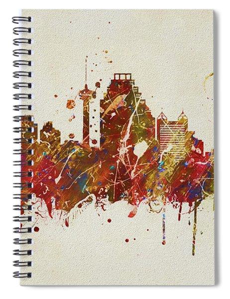 Colorful San Antonio Skyline Spiral Notebook