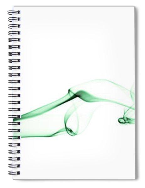 Colorful Smoke II - Rgb Triptych Spiral Notebook