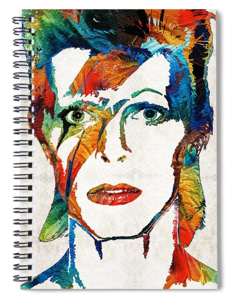 Colorful Star - David Bowie Tribute  Spiral Notebook