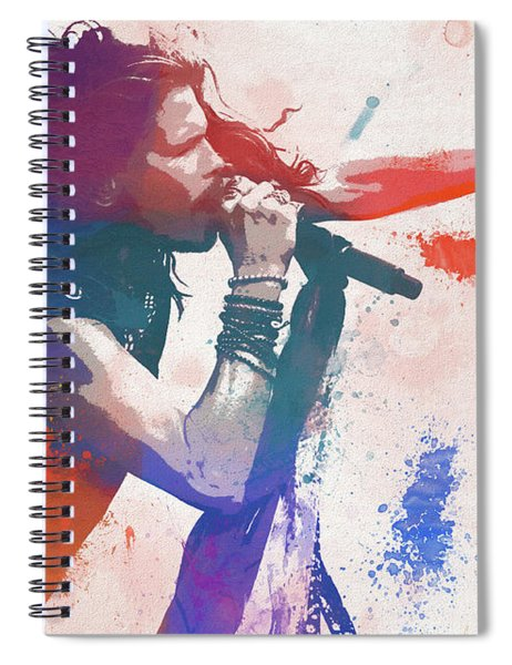 Colorful Steven Tyler Paint Splatter Spiral Notebook