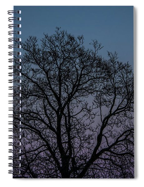 Colorful Subtle Silhouette Spiral Notebook