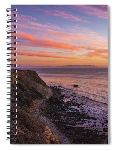 Colorful Sunset At Golden Cove Spiral Notebook