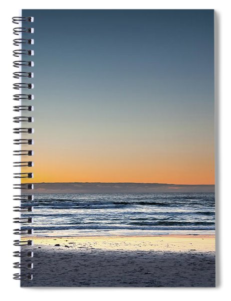 Colorful Sunset Over A Desserted Beach Spiral Notebook
