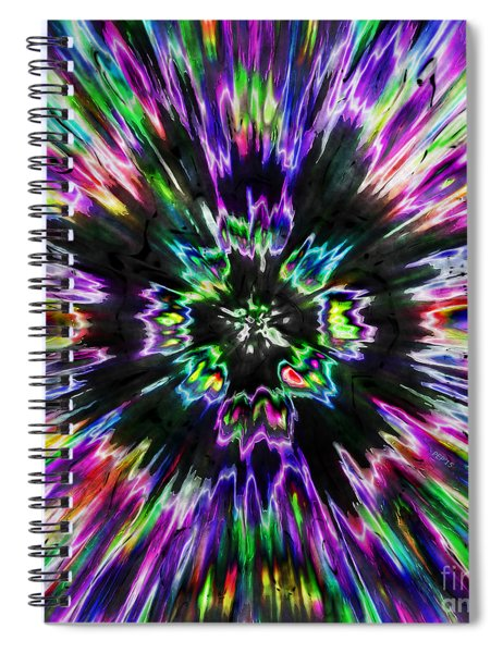Colorful Tie Dye Abstract Spiral Notebook