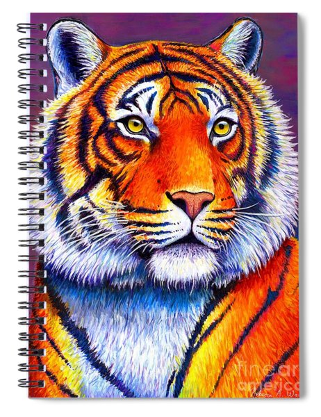 Fiery Beauty - Colorful Bengal Tiger Spiral Notebook