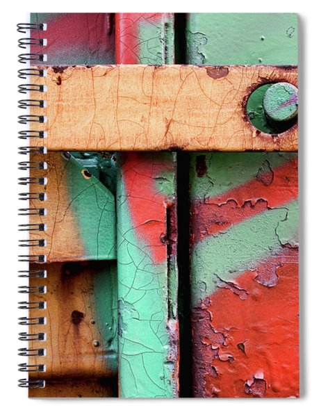 Colorful Train Details Spiral Notebook